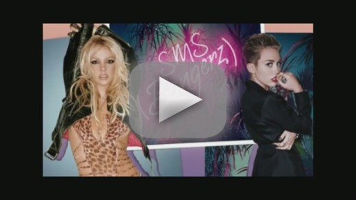 "Miley Cyrus and Britney Spears - ""SMS (Bangerz)�"