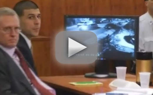 Aaron Hernandez: Video of Former Patriots Star Holding Gun upon Day of Murder Shown in Court