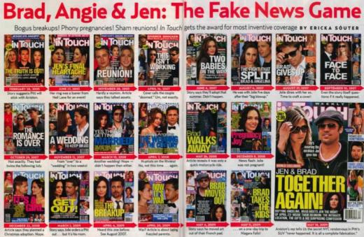 Fake Brangelina News Covers