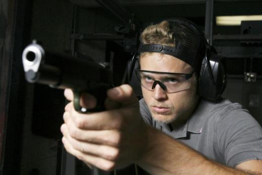 Spencer Pratt with a Gun