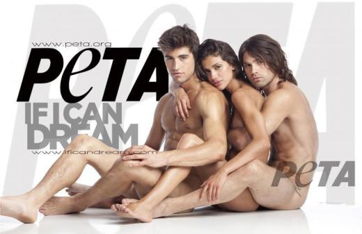 Random Nudists for PETA