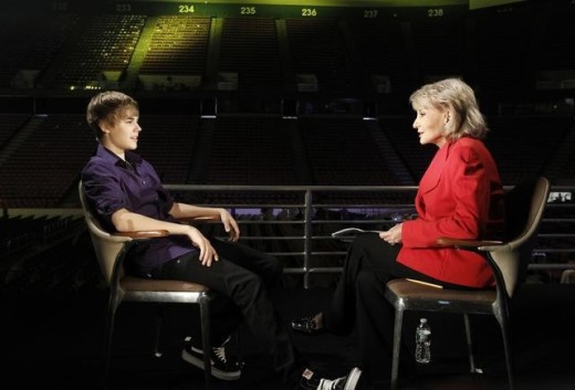 Barbara Walters and Justin Bieber