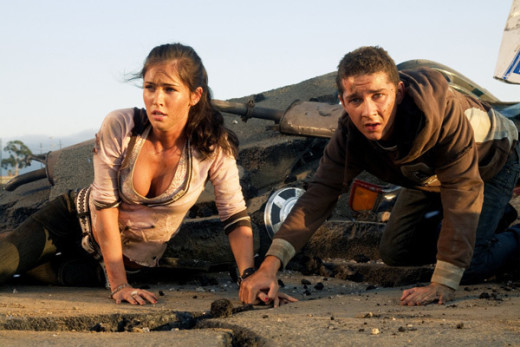 Megan Fox and Shia LaBeouf in Transformers