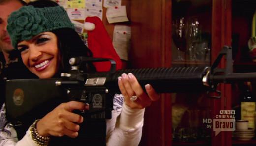 Teresa Giudice with a Gun