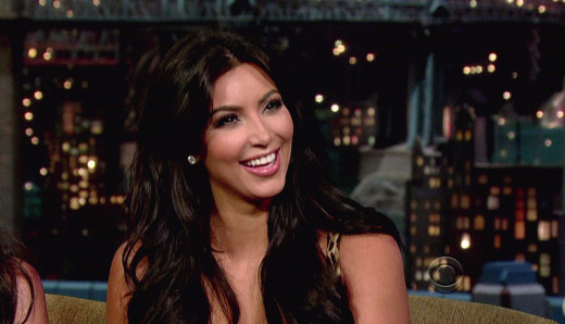 Kim Kardashian on Letterman