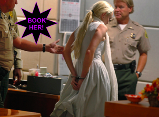 Lindsay Lohan Handcuffed
