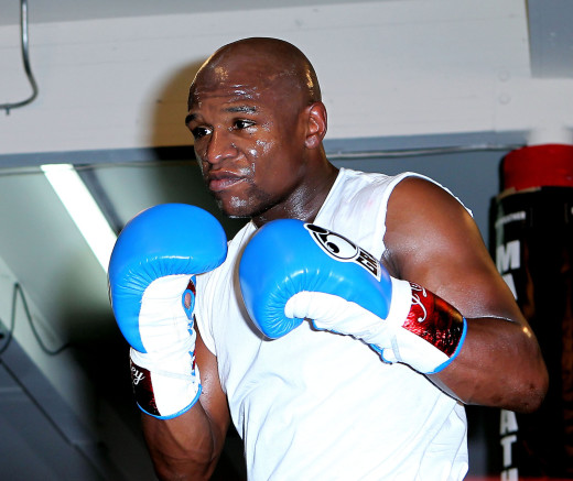 Floyd Mayweather in Training