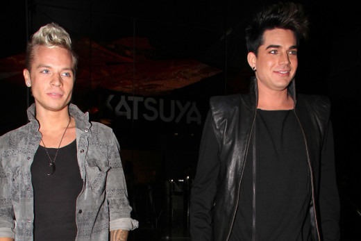 Sauli Koskinen and Adam Lambert at Katsuya