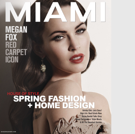 Megan Fox Miami Cover