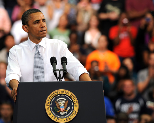 Barack Obama at the Podium