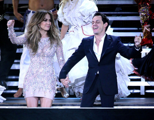 Jennifer Lopez and Marc Anthony in Las Vegas.