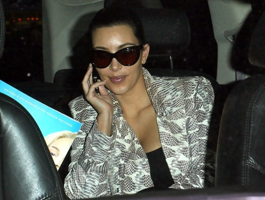 Kim Kardashian Arrives at LAX