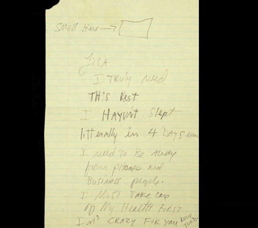 Michael Jackson Letter to Lisa Marie Presley