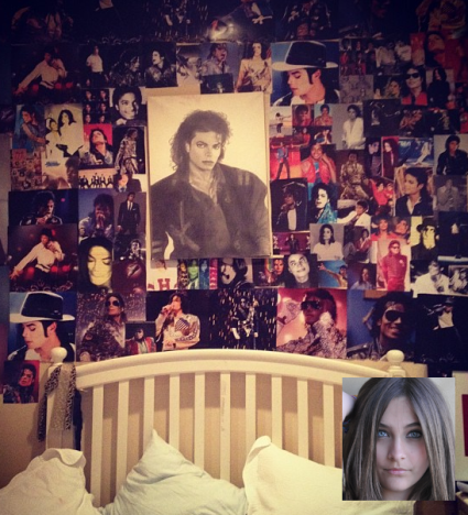 Paris Jackson Wall Tribute to Michael