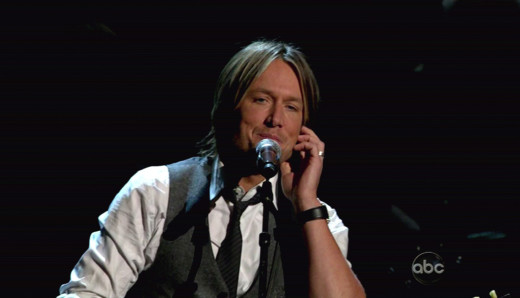 Keith Urban on Stage