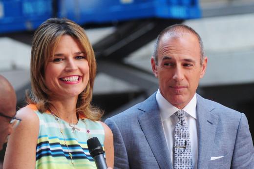 Matt Lauer and Savannah Guthrie