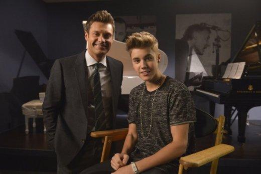 Justin Bieber with Ryan Seacrest