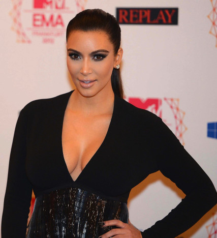 Kim Kardashian Bares Cleavage