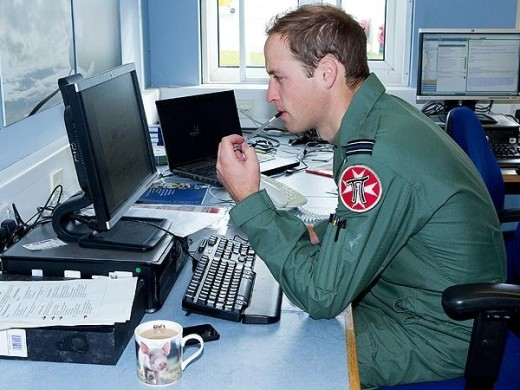Prince William at the Base