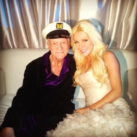 Crystal Harris, Hugh Hefner Wedding Photo
