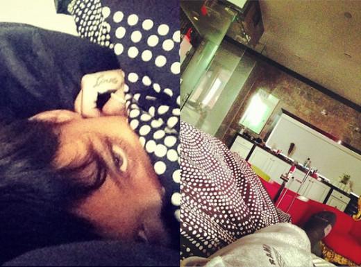 Chris Brown, Rihanna in Bed