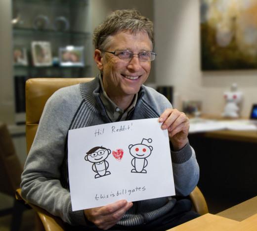 Bill Gates on Reddit