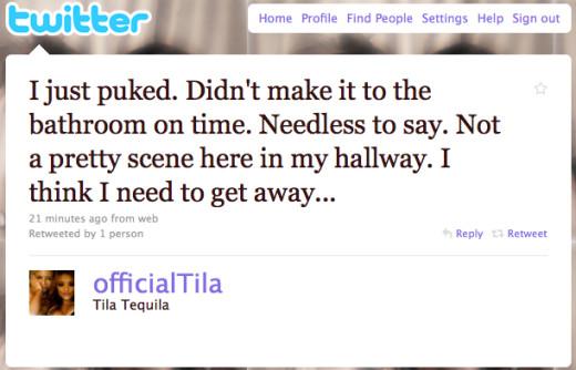 Tweet from Tila