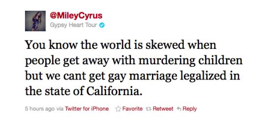 A Miley Cyrus Tweet