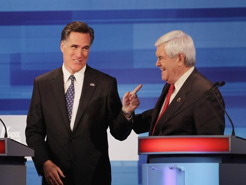 Newt and Mitt Pic