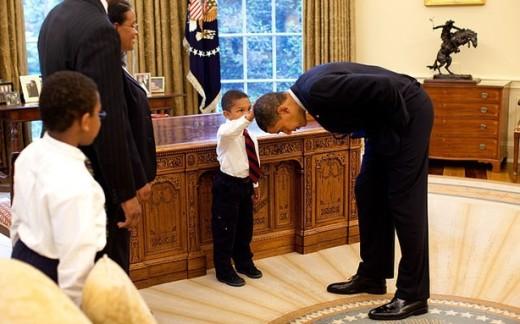 Patting Obama