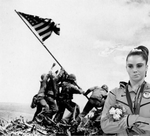 McKayla on Iwo Jima