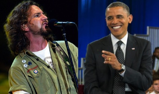 Vedder and Obama