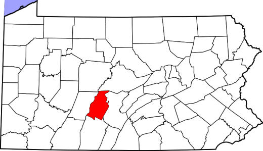 Blair County PA Map