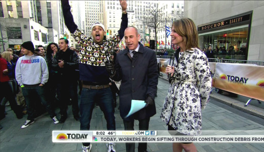 Chris Brown and Matt Lauer