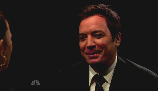 Jimmy Fallon with Makeup