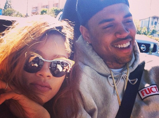 Rihanna and Chris Brown Instagram