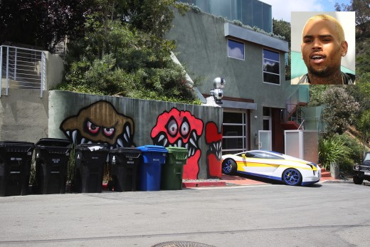 Chris Brown House Graffiti