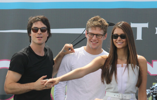 Ian Somerhalder, Zach Roerig and Nina Dobrev