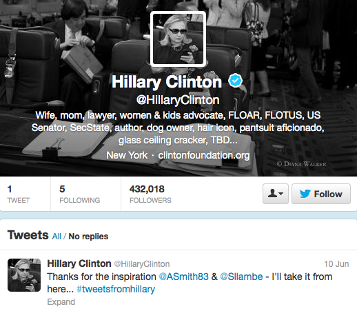 Hillary Clinton on Twitter
