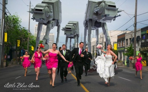 Star Wars Wedding Photo