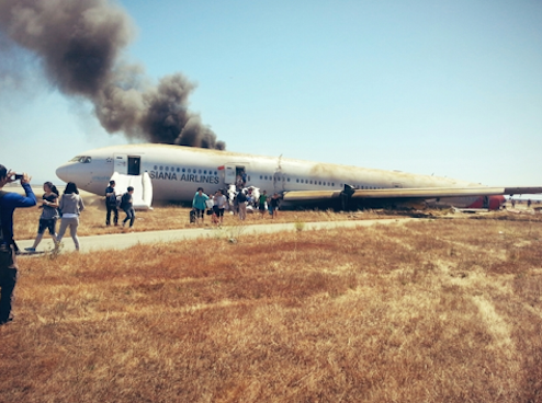 SF Plane Crash Pic