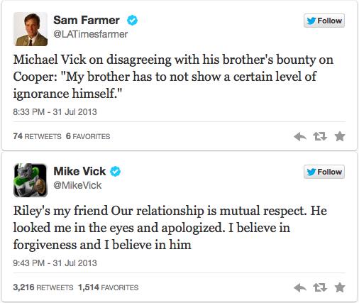 Mike Vick Tweets