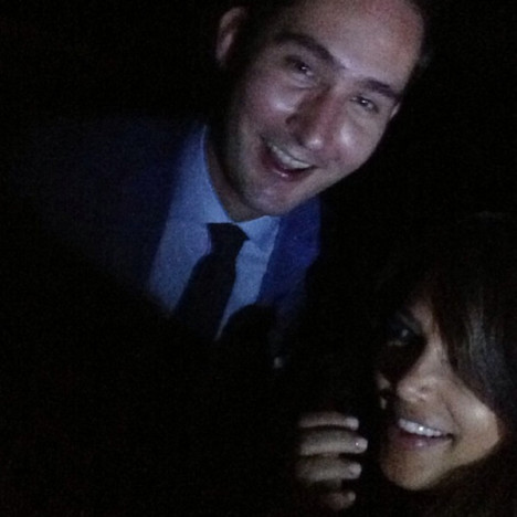 Kim Kardashian and Kevin Systrom