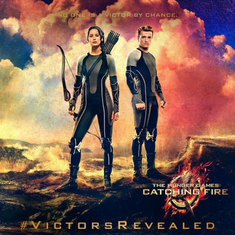 Katniss and Peeta Catching Fire Banner