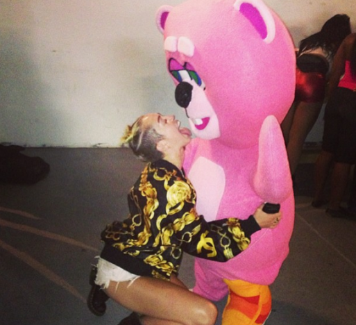 Miley Cyrus and Pink Bear