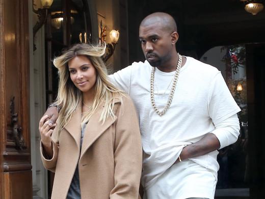 Kim Kardashian and Kanye West Abroad