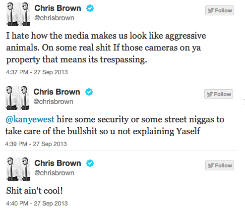 Brown Tweets to Ye