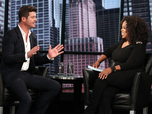 Robin Thicke and Oprah