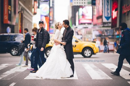 Zach Braff Photobombs Newlyweds
