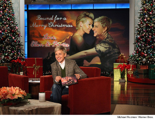 "Ellen DeGeneres Mocks Kimye, ""Bound 2"" Video in Phony Christmas Card"